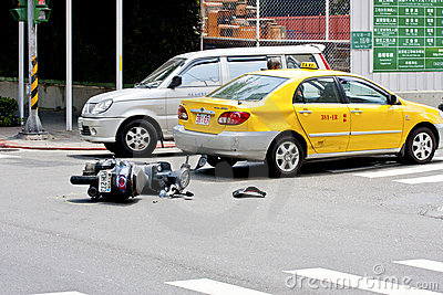 Car accident Editorial Stock Image