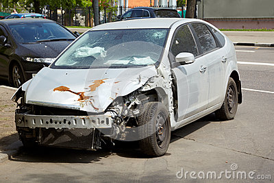 Car after an accident
