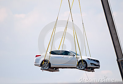 Car in the air