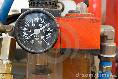 Car air pressure gauge