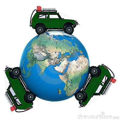 On car around the world