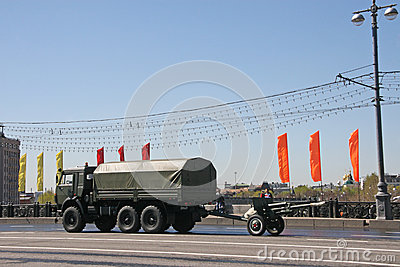 Car with artillery equipment Editorial Photo