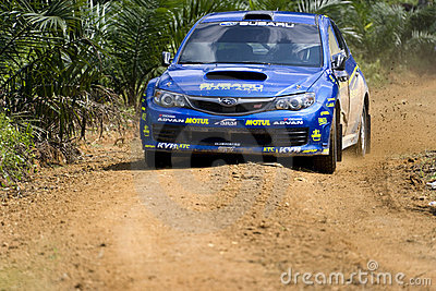 Car in the Asia Pacific Rally  Editorial Stock Photo