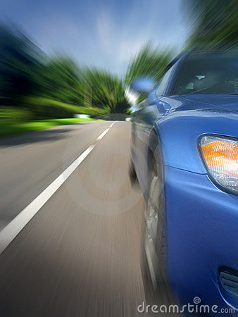 Free Car At Speed Stock Image - 1154911