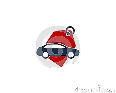 Car Auto Shopping Icon Logo Design Element Vector Illustration