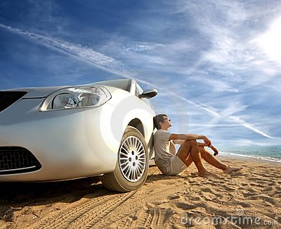 Car on the beach