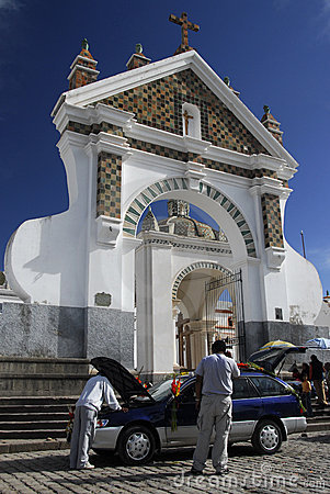 Car blessing, Cathedral of Copacabana, Bolivia