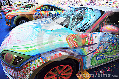 Car body painting Editorial Photo
