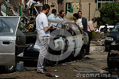 Car Bombing Targeting Egypt s Interior Minister Editorial Stock Photo