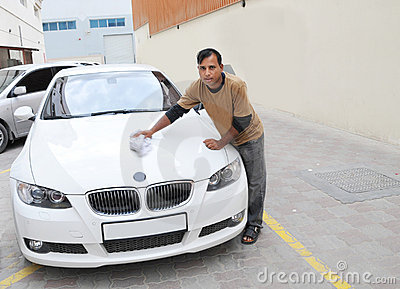 Car boy - cleaning a BMW car