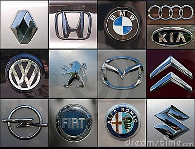 Car brands collage Editorial Stock Image
