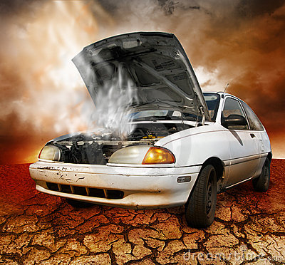 What To Do When Your Car Overheats >> Car Broken Down Stock Photos - Image: 7995393