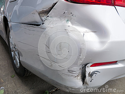 Car bumper damage