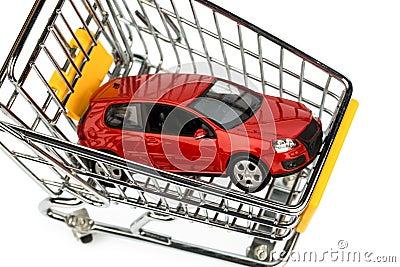 Car in cart