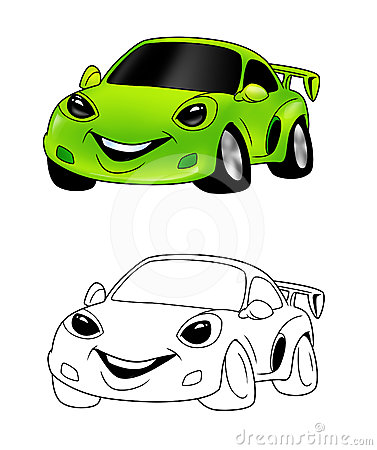 Car cartoon coloring page 4