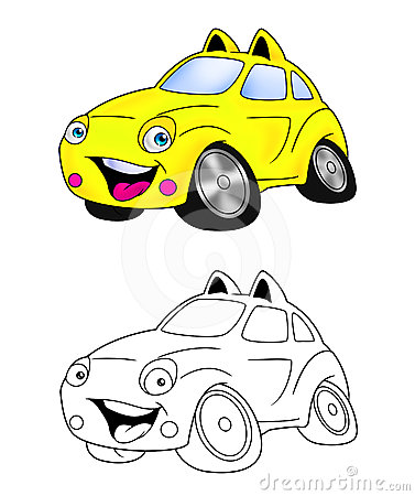 Car cartoon coloring page 6