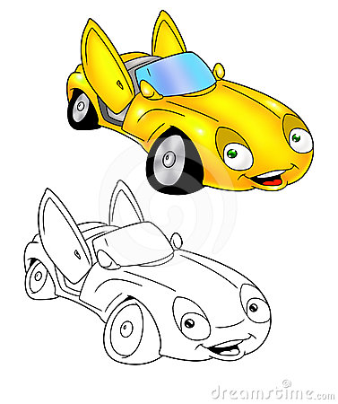 Car cartoon coloring page 7