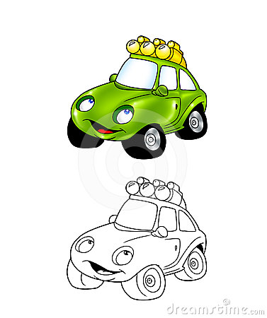 Car cartoon coloring page 8