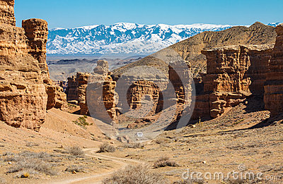 Car in Charyn Canyon
