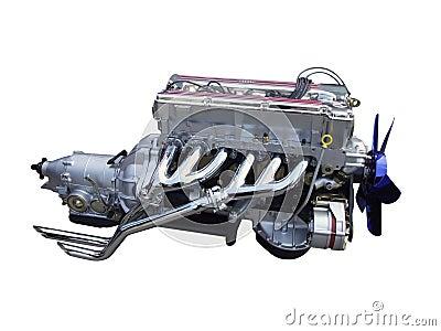 Car chrome engine isolated