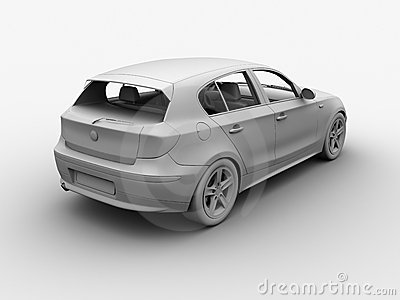 Car clay 3D render