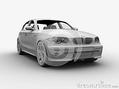 Car Clay 3D render