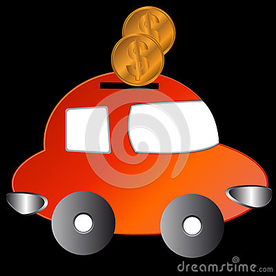 The car with coins