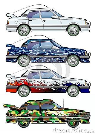 Car. Colouring.