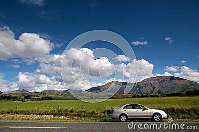 Car at country road
