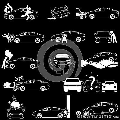 Car crash insurance in vector stlye. Vector Illustration
