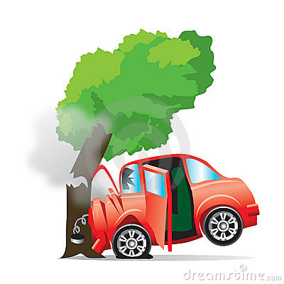 Free Car Crashed Into Tree Stock Photos - 13527143
