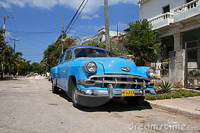 Car in Cuba Editorial Photo