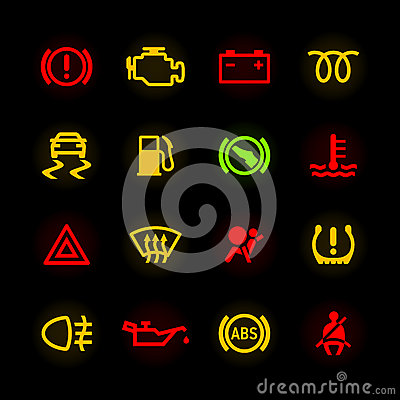 Free Car Dashboard Icons Stock Photo - 39429860