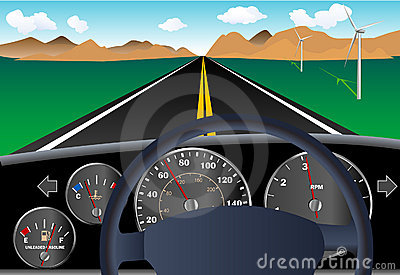 Car Dashboard With Road Royalty Free Stock Images - Image ...
