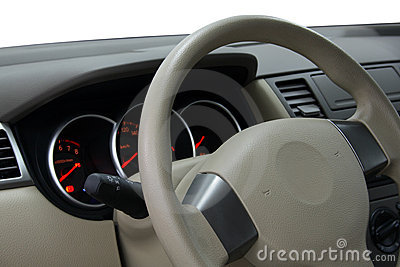 Car Dashboard and Steering Wheel
