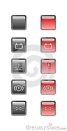 Car dashboard symbols