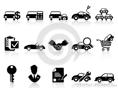 Stock Photos Car Dealership Icons Set Black White Background Image33898473 on white land rover