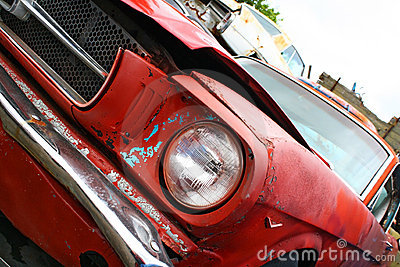 Car Detail At The Scrapyard Stock Photos - Image: 9489833