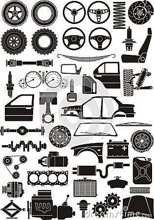 Free Car Detail Set Royalty Free Stock Images - 18002369