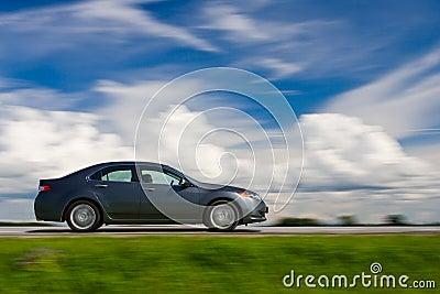 Car drivng fast