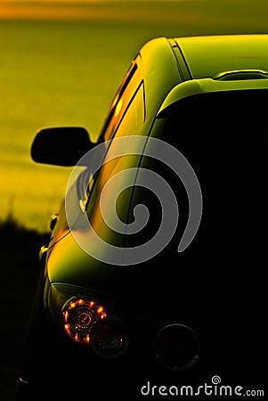 Car at dusk