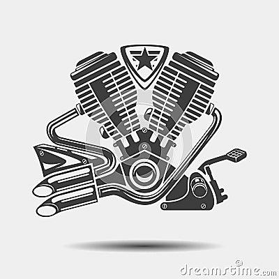 Car Engine Or Motorbike Motor Black Icon Stock Vector - Image: 60478427