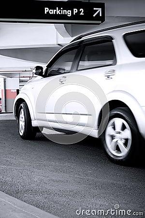 Car enter the parking lot