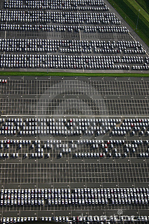 Car factory parking