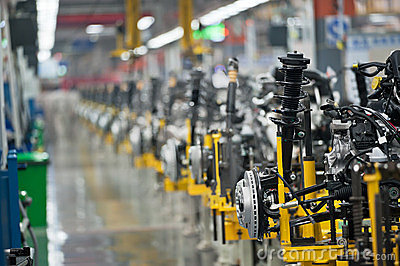 Car factory robot
