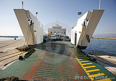 Car ferry boat in Croatia