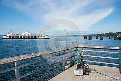 Car ferry and fishing pier stock photo image 40862752 for Seattle fishing pier