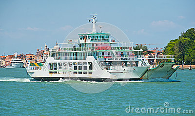 Car ferry in Venice Editorial Image