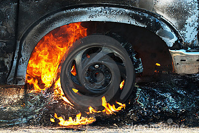 Car fire detail