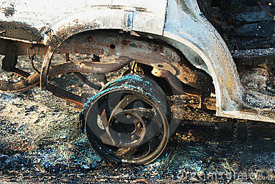Car fire detail